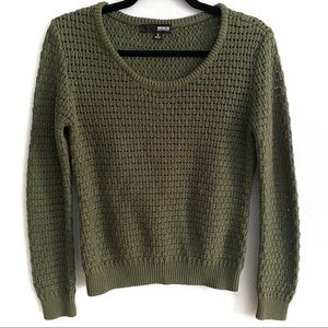 Brooklyn Industries open weave crewneck sweater